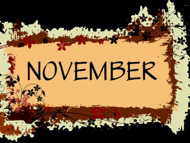 November Clipart Border