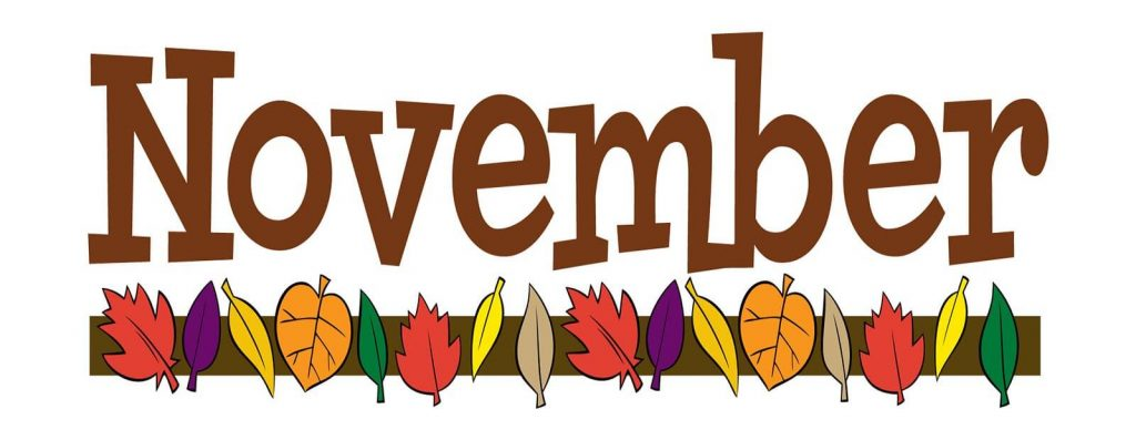 November Images Clipart Banner