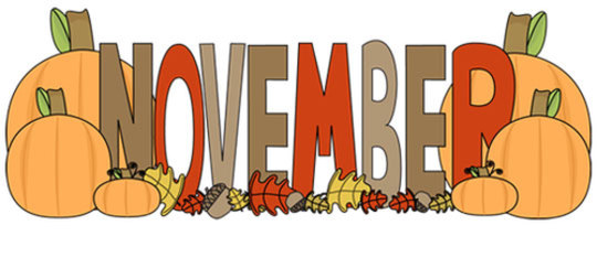 November Images Clipart