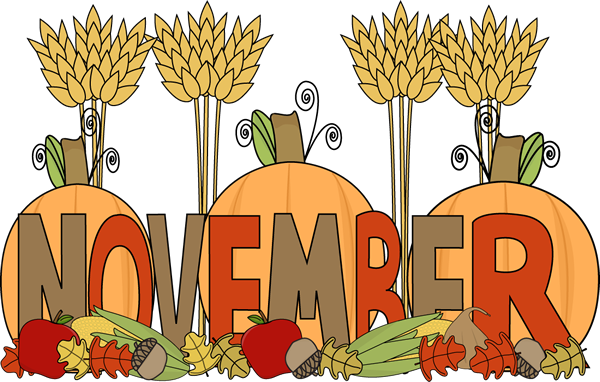 November Month Clipart