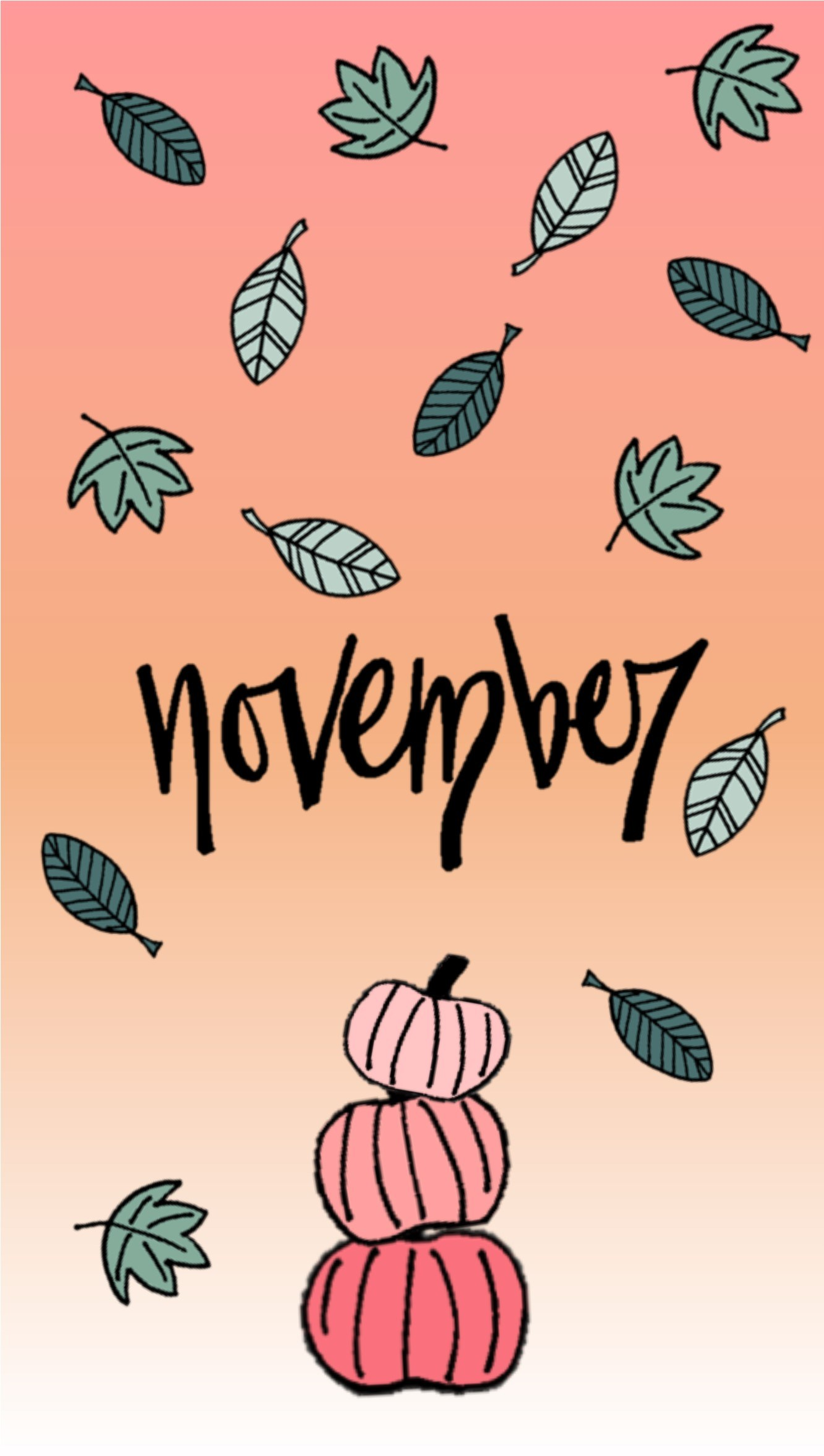 November Month Halloween Wallpapers for iPhone