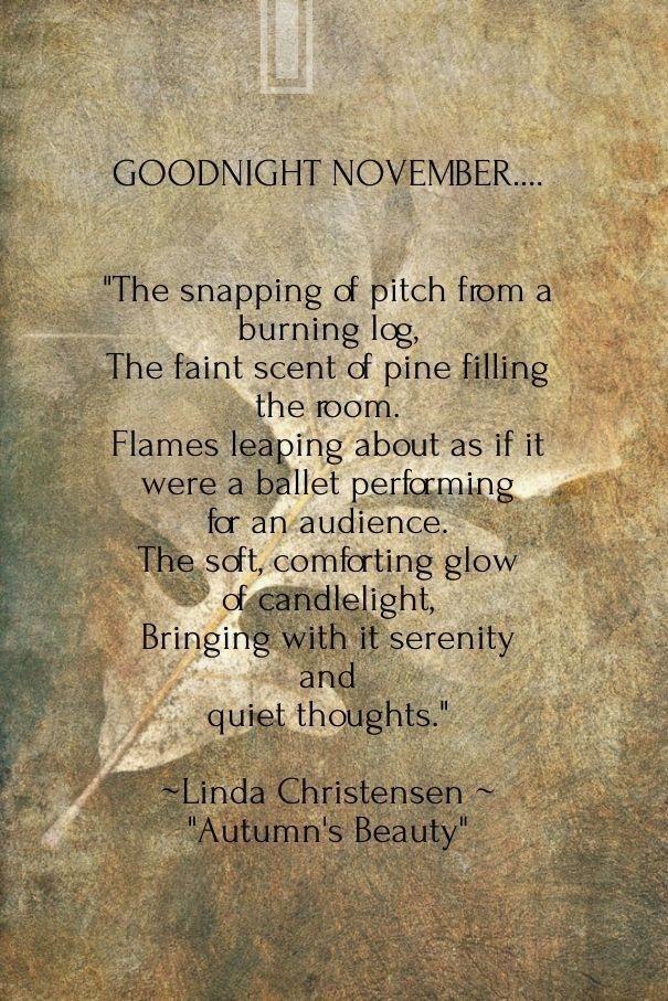 November Sayings Poems