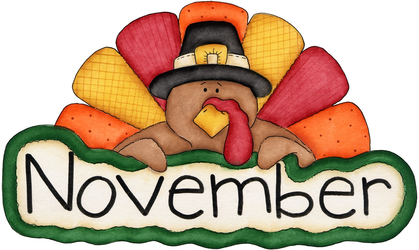 November Thanksgiving Clipart Images