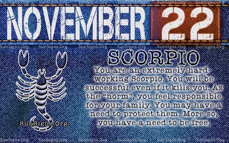 November Zodiac Sign Birthday Horoscope