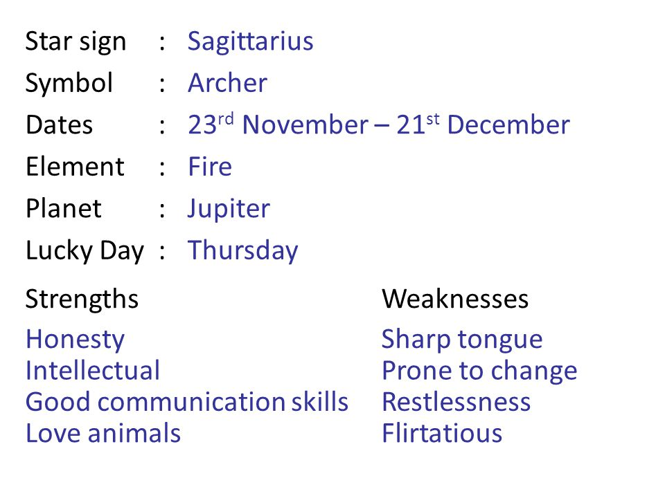 November Zodiac Sign Characteristics