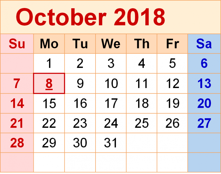 October 2018 Calendar New Zealand Holidays