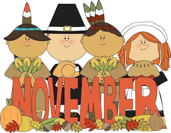 Welcome November Clipart for Kids