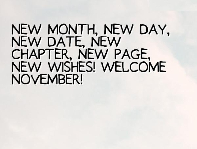 Welcome November Images Quotes