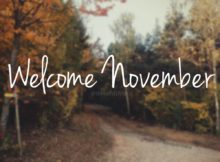 Welcome November Month Wallpaper