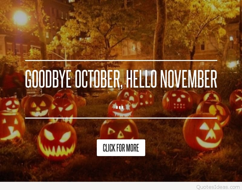 Welcome November Quotes Halloween Images