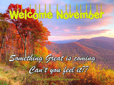 Welcome November Quotes Tumblr