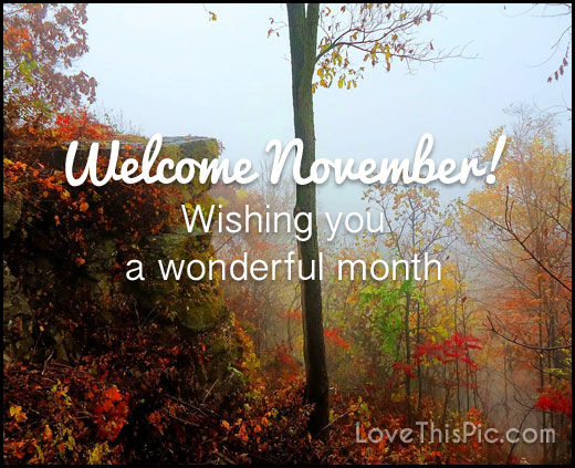 Welcome November Wonderful Month Pics