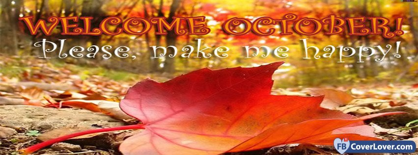 Welcome October Facebook Cover Photos