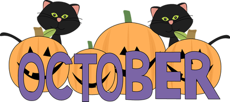 Welcome October Month Clipart