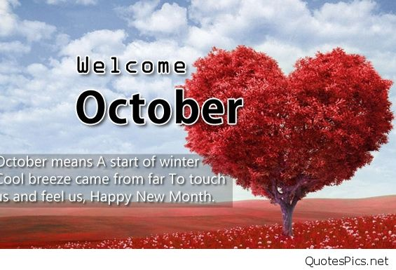 Welcome October Wallpaper Pictures Quotes
