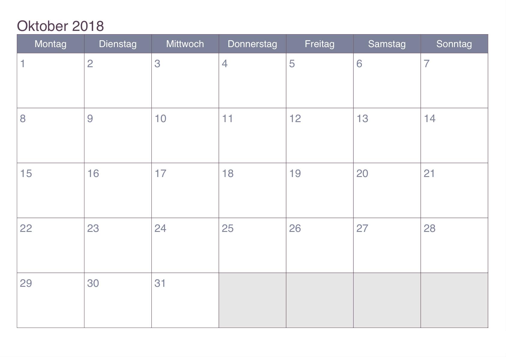 kalender oktober 2018 österreich