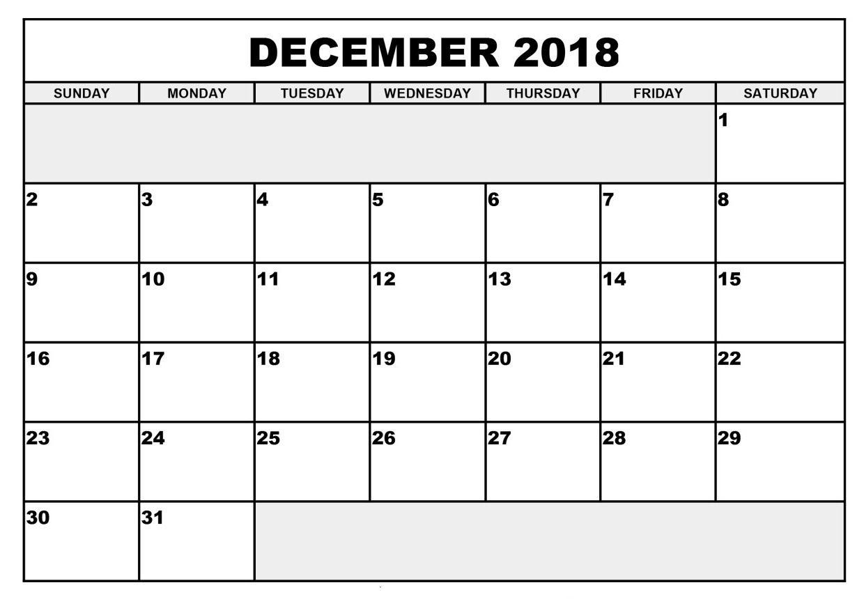 Calendar December 2018 Australia