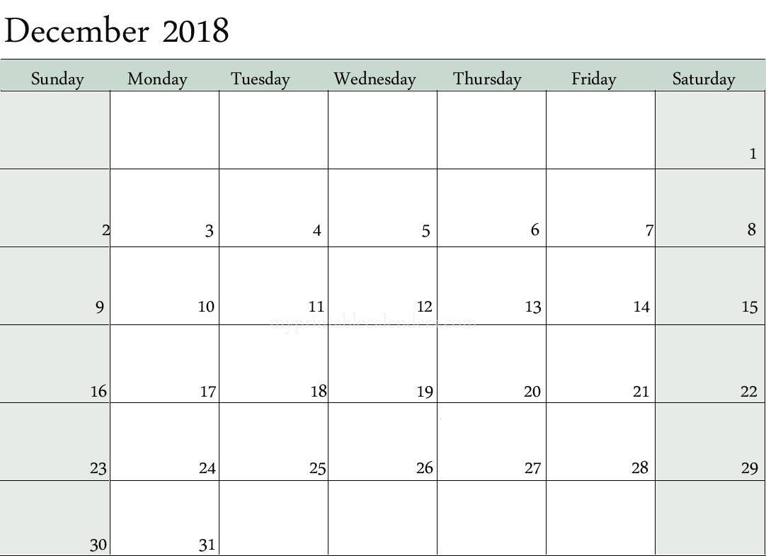 Calendar December 2018 Marathi