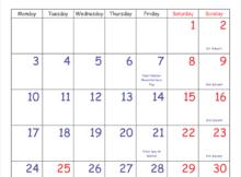December 2018 Calendar Vertical with Holidays