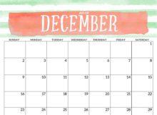 Print December 2018 Calendar Template