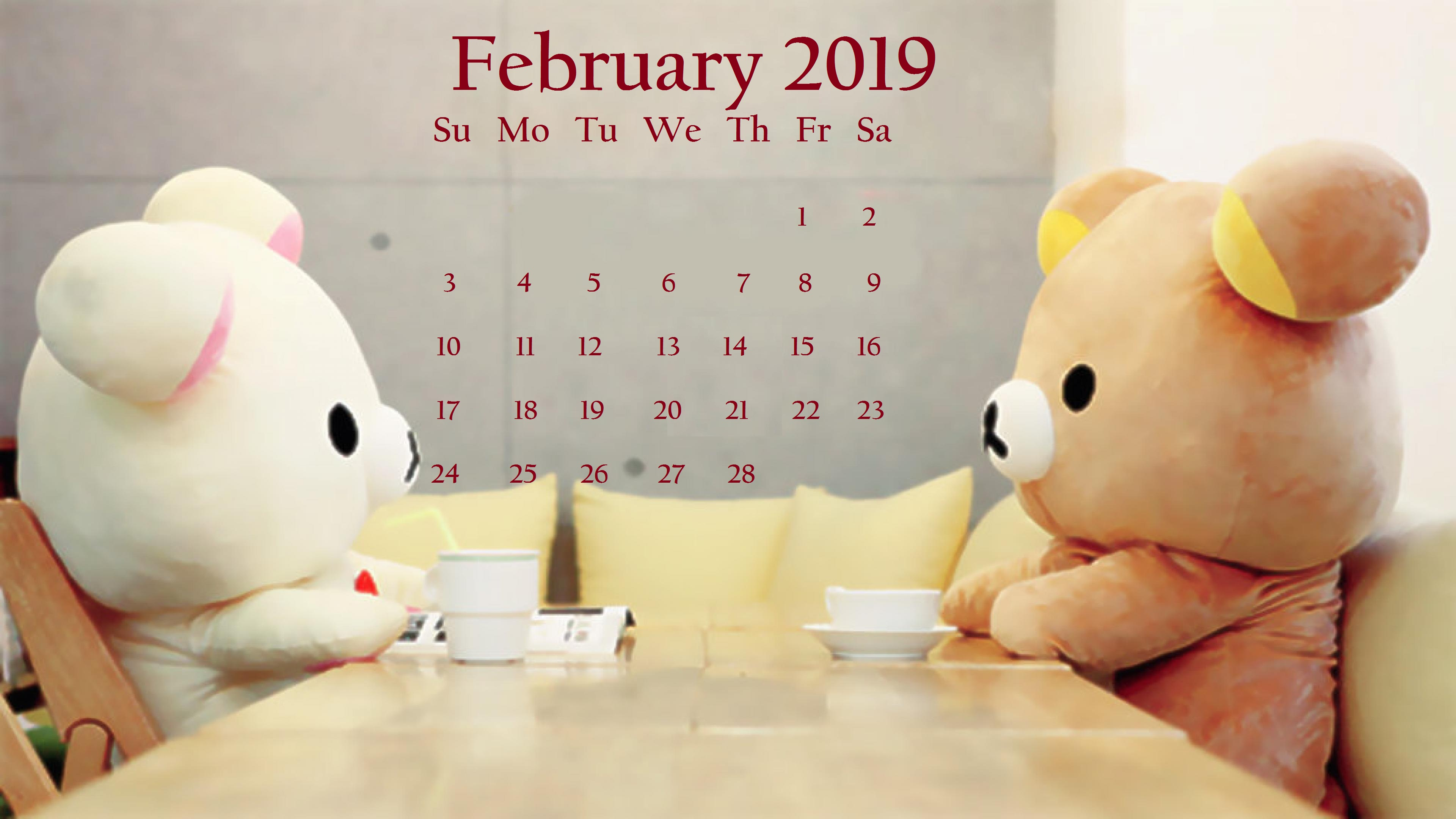 Cutey February 2019 Desktop Wallpaper