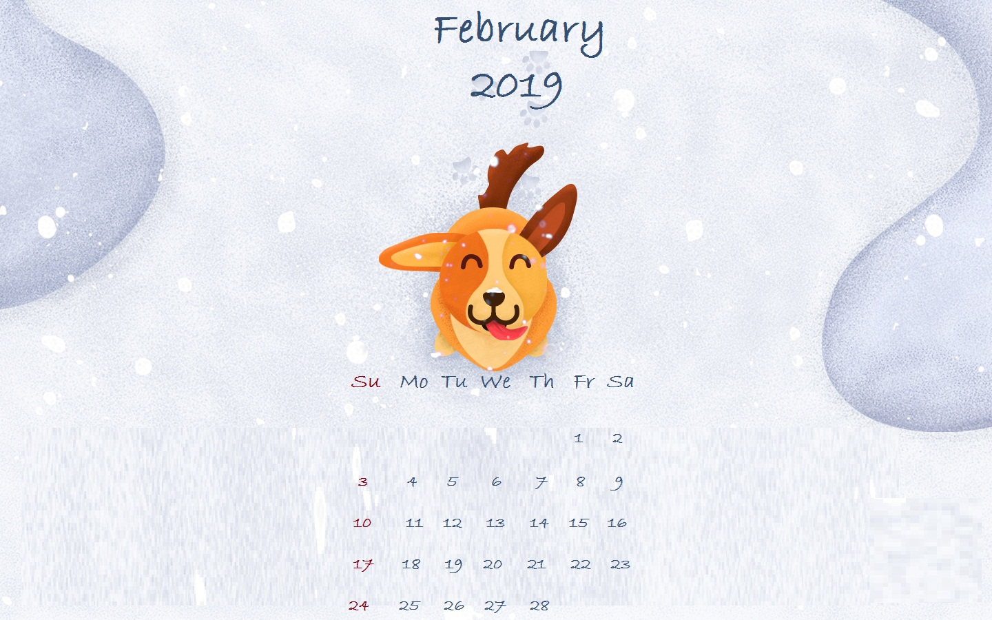 February 2019 Deer Desktop Wallpaper
