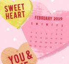 Heart February 2019 iPhone Calendar