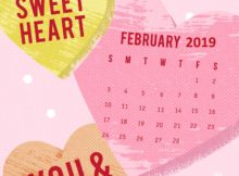Heart February 2019 iPhone Calendar
