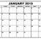 January 2019 Calendar Blank