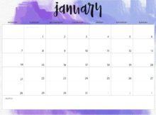 January 2019 Desk Calendar