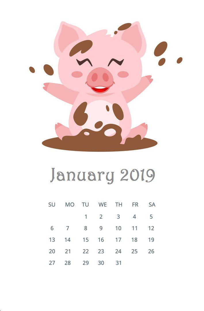 January 2019 Edit Calendar