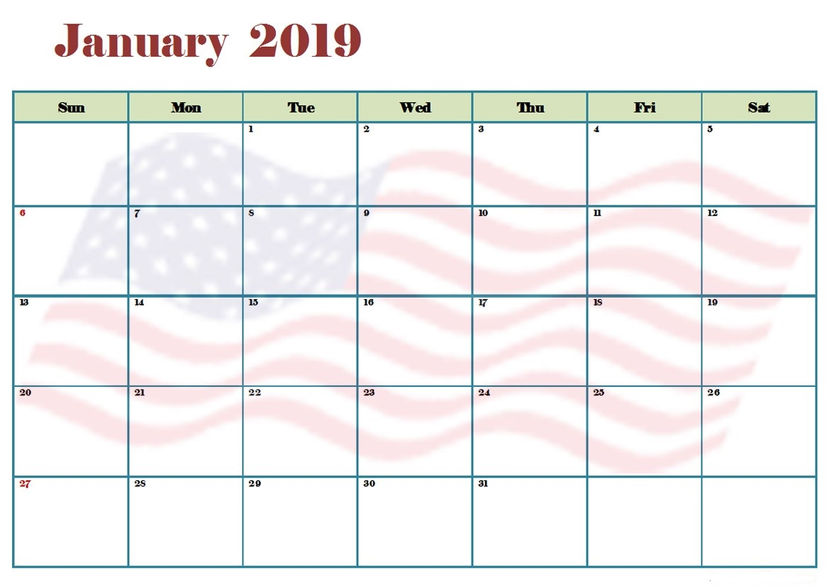 January 2019 Holidays Australia Calendar