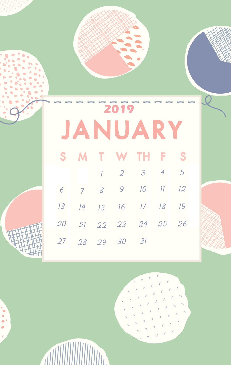 January 2019 iPhone Cute Wallpaper