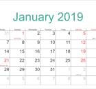 January Calendar 2019 Printable
