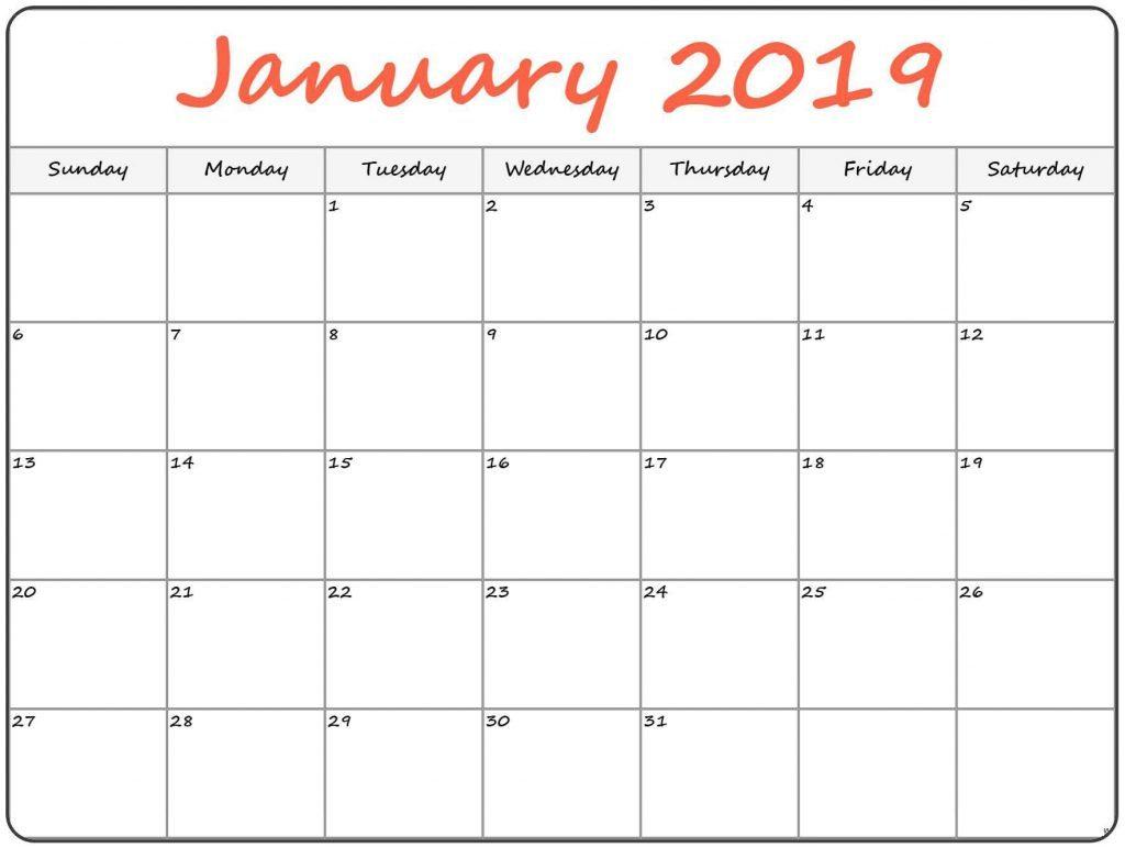 January Calendar PDF