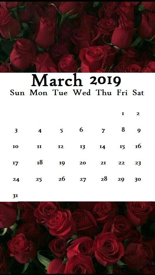 Queen Wallpaper 2019 March Calendar iPhone