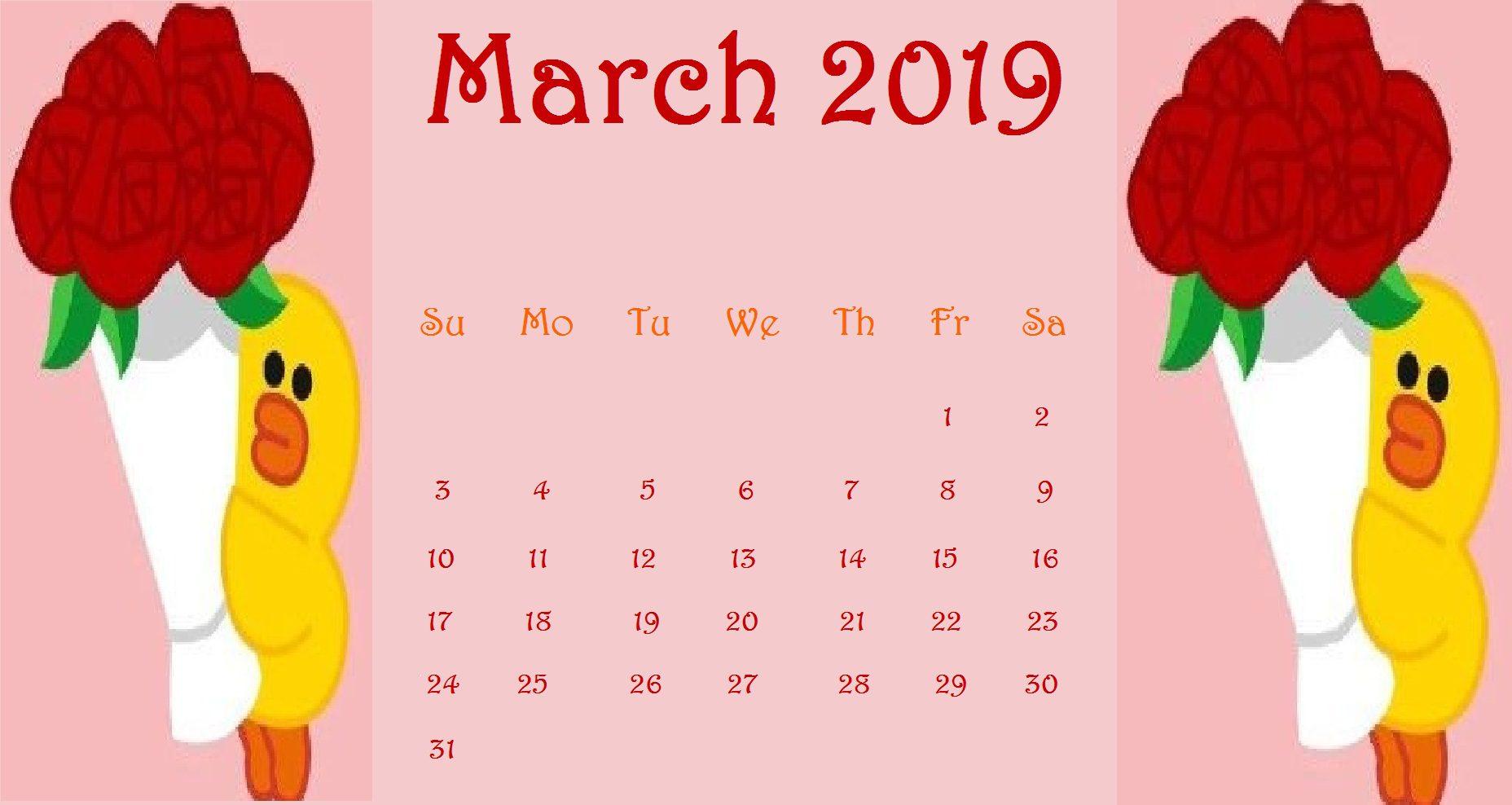 Simple background desktop March 2019 wallpaper