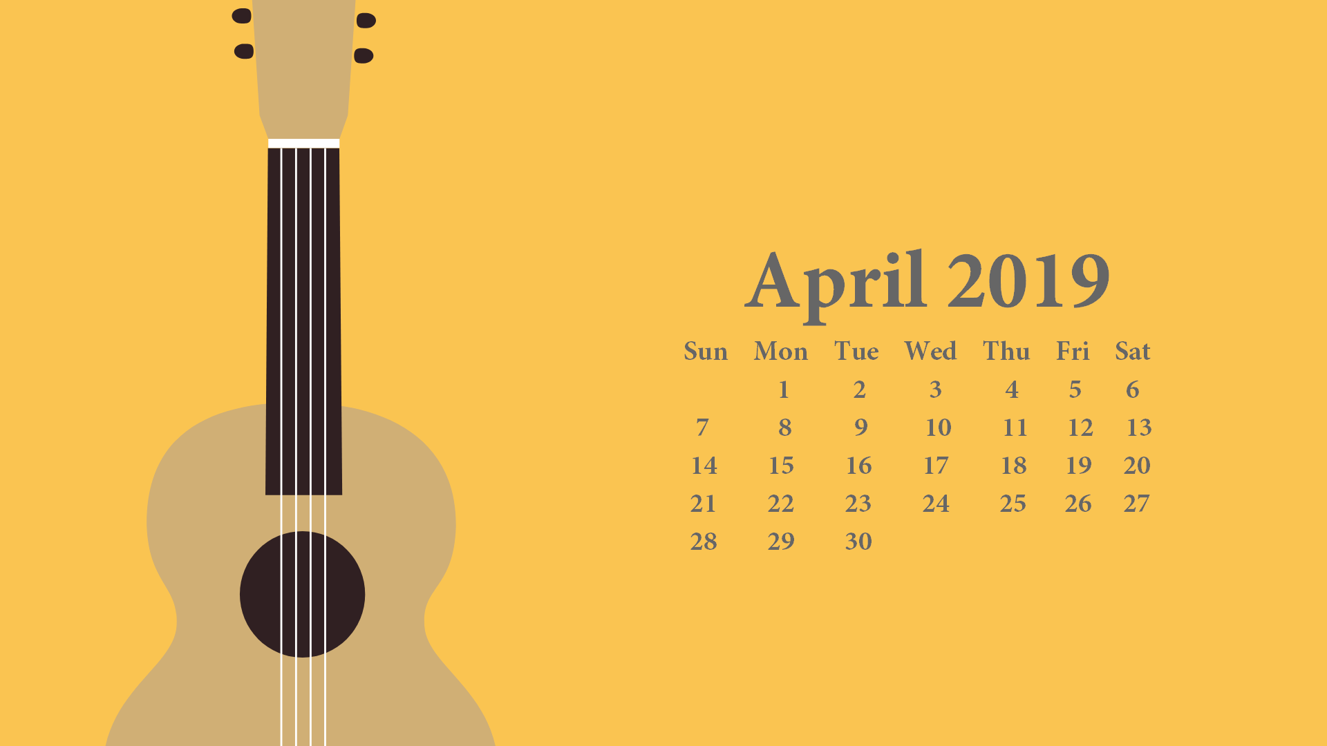 April 2019 Desktop Wallpaper With Calendar