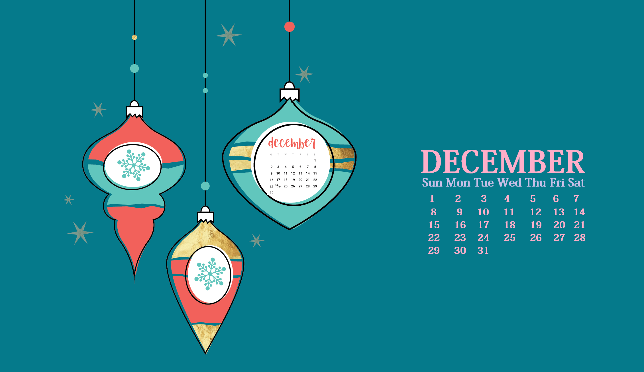 December 2019 HD Wallpaper Calendar