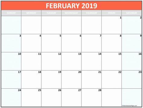 February 2019 Calendar Canada Printable