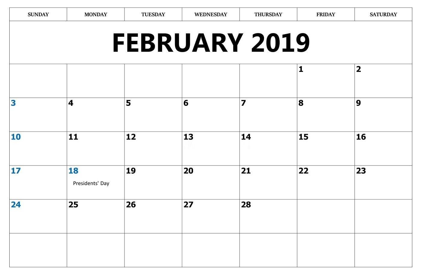 February 2019 Calendar South Africa With Holidays
