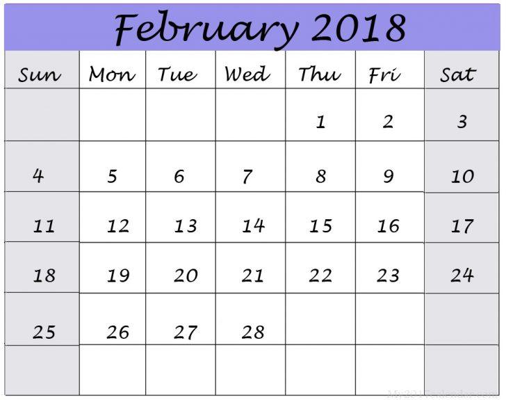 February 2019 Calendar Template Excel