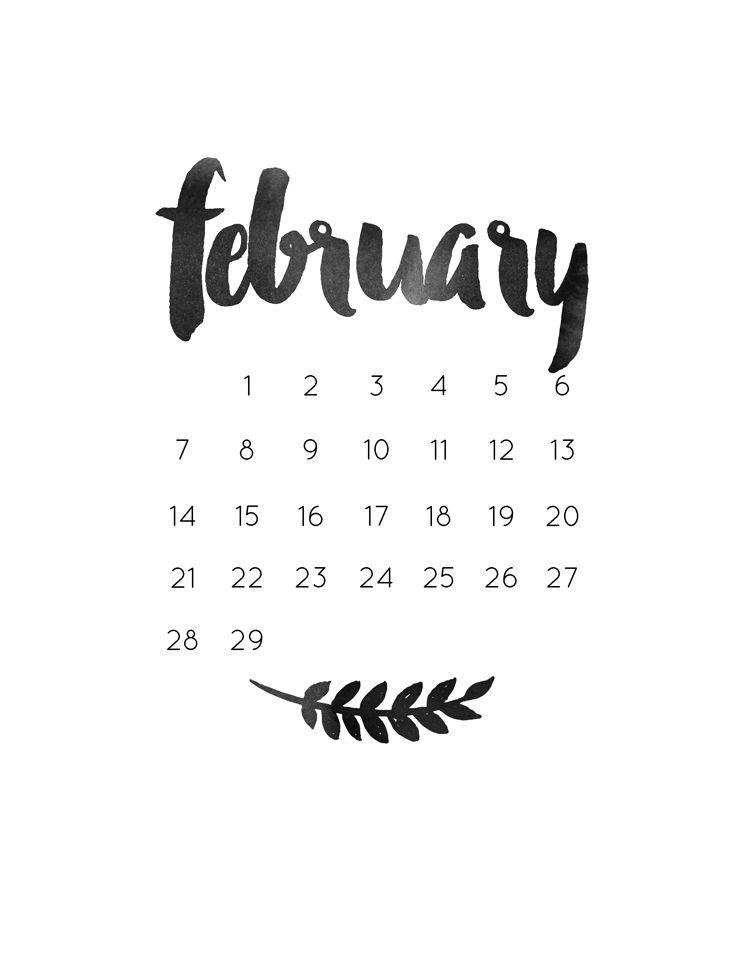 February 2019 Calendar Tumblr to Print