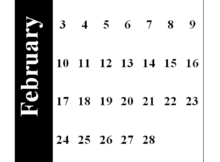 February 2019 Portrait Calendar Template