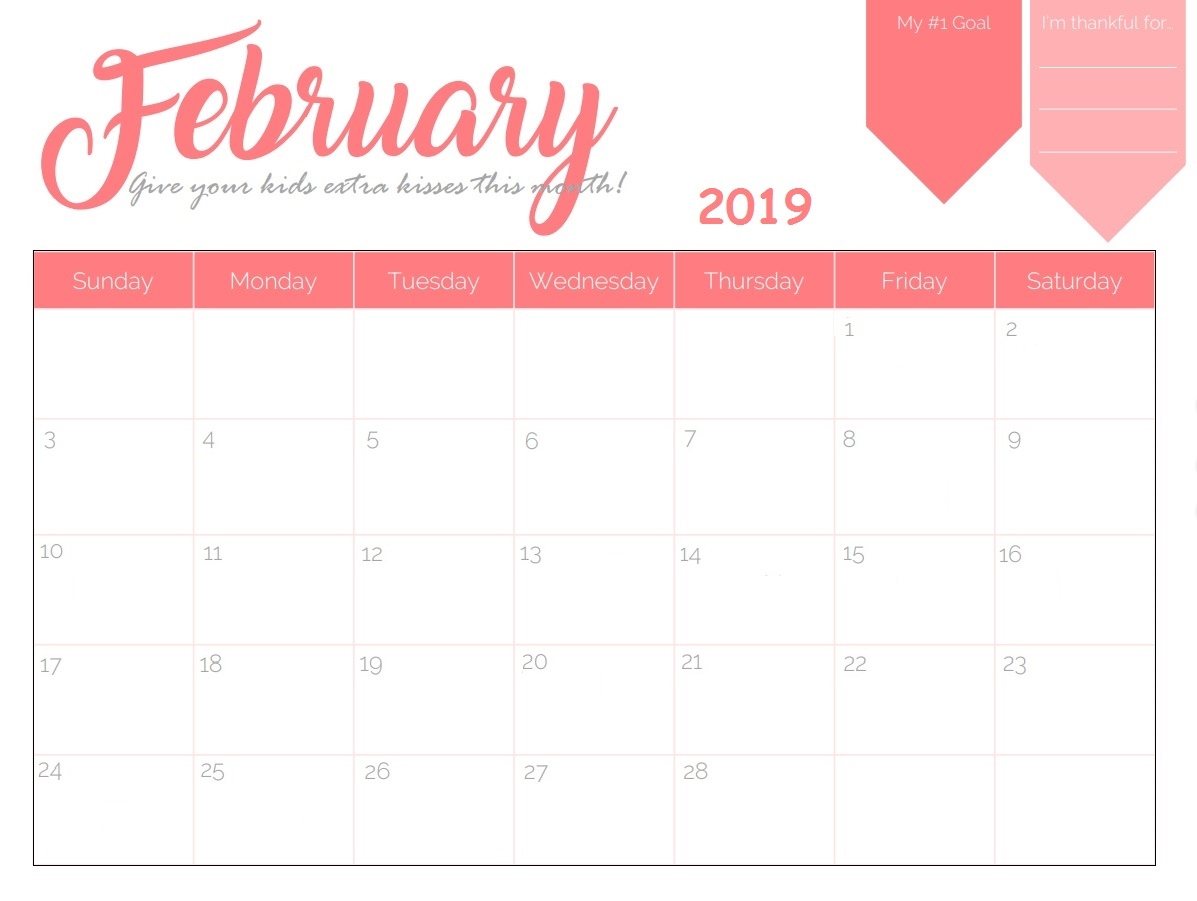 February 2019 Printable Wall Calendar