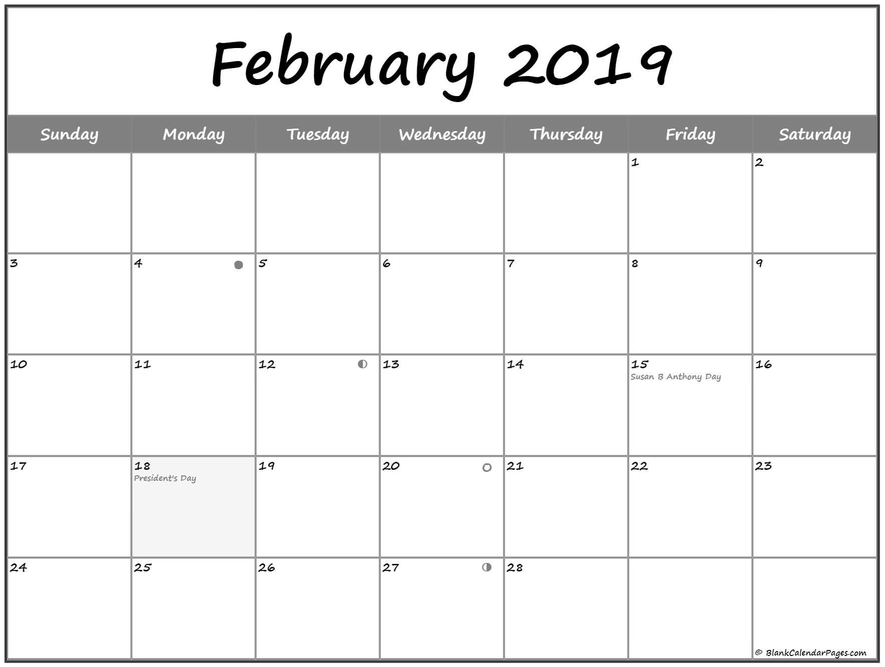 February 2019 South Africa Calendar
