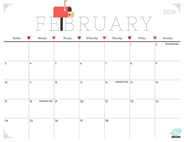 February Calendar 2019 Philippines