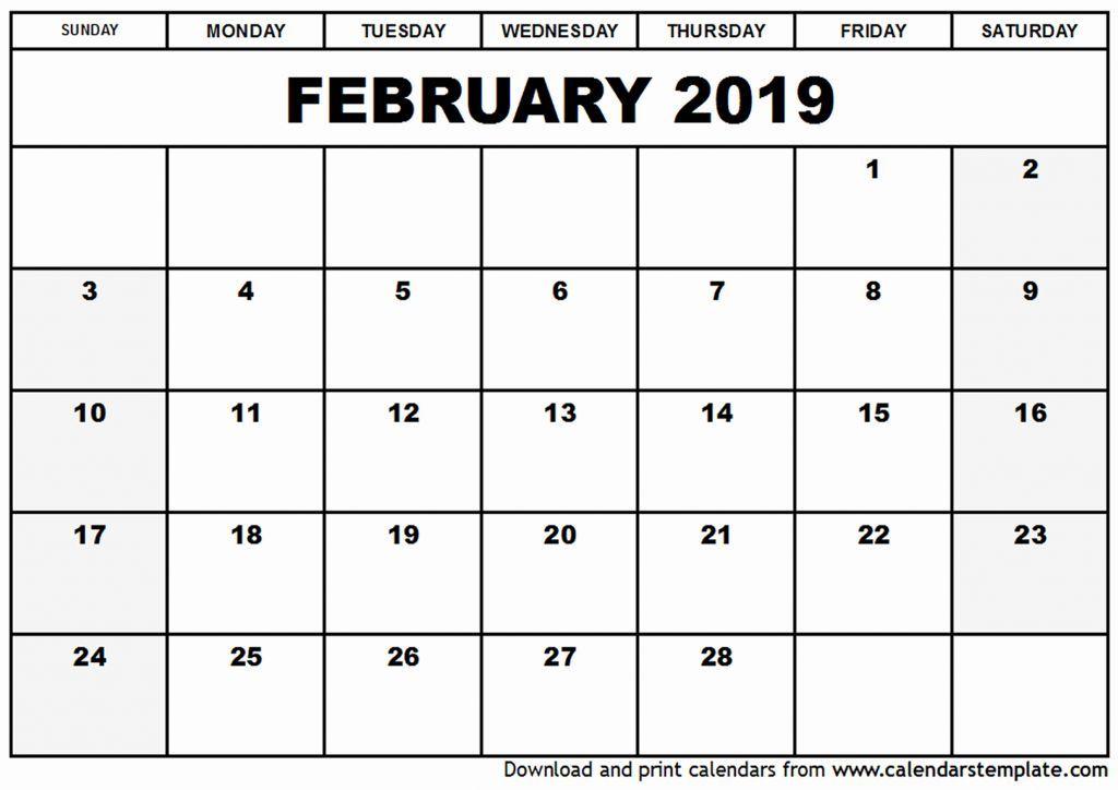 February Calendar 2019 Tumblr