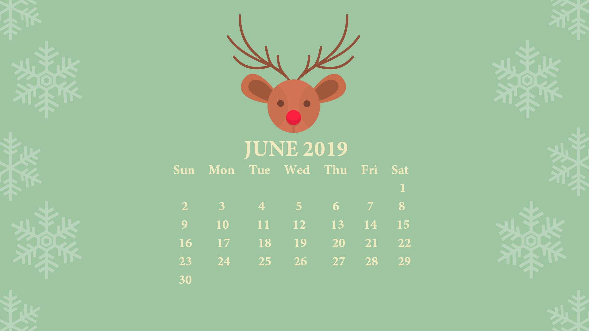 June 2019 Desktop Wallpaper With Calendar