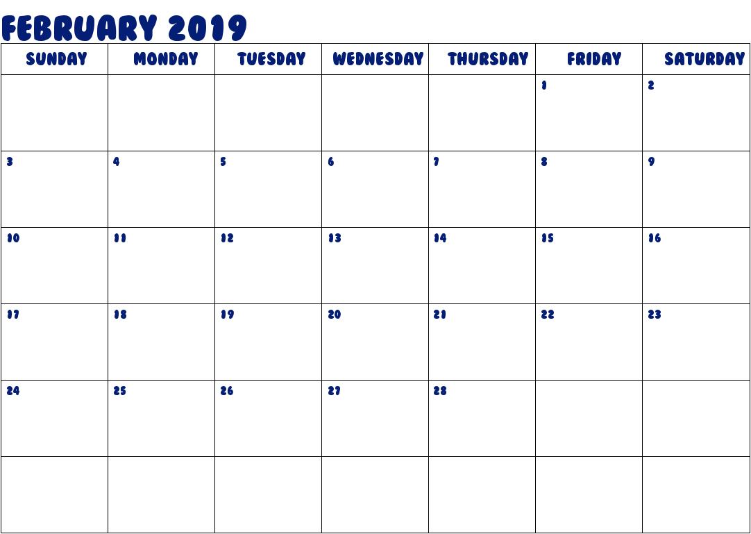 Marathi Calendar February 2019